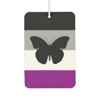 Asexual Pride Butterfly Car Air Freshener