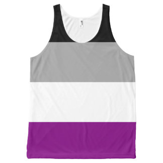 Asexual Pride Flag All-Over Print Singlet