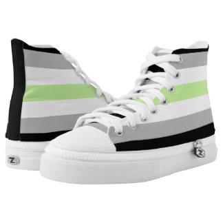 Asexual Pride Flag High Top Sneakers
