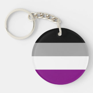 Asexual Pride Flag Key Ring