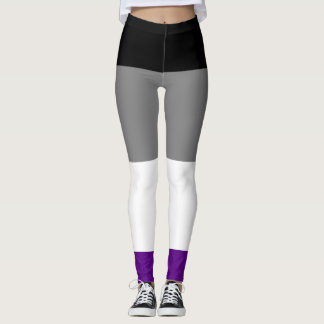 Asexual Pride Flag Leggings