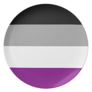 Asexual Pride Flag Plate