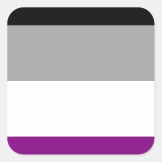 Asexual Pride Flag Square Sticker
