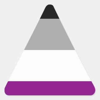 Asexual Pride Flag Triangle Sticker