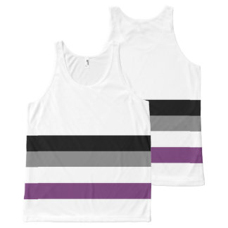 Asexual Pride Flag Unisex Tank Top