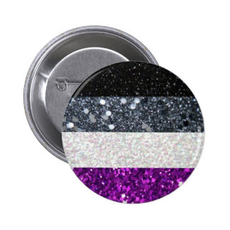 Asexual Pride glitter button