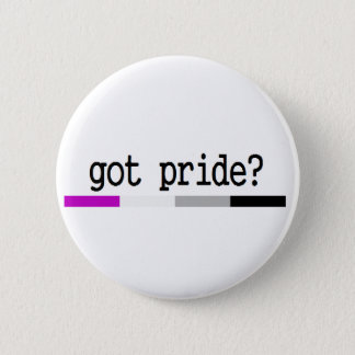 "Asexual Pride ""Got Pride?"" keychain 6 Cm Round Badge"