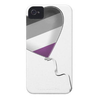 Asexual Pride Heart Balloon iPhone 4 Covers