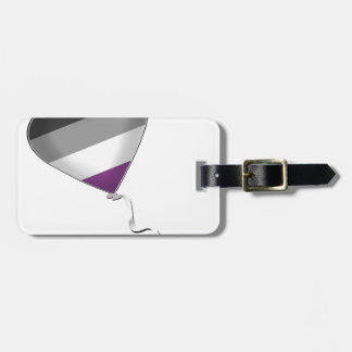 Asexual Pride Heart Balloon Luggage Tag