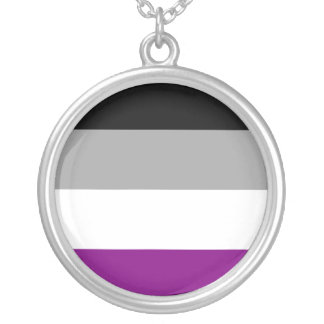Asexual Pride Silver Plated Necklace