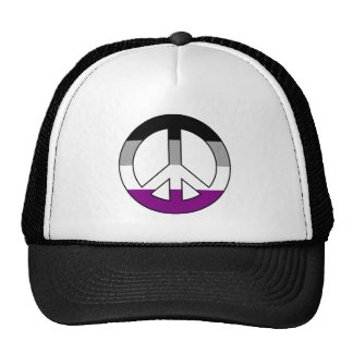 Asexuality peace sign Trucker Hat
