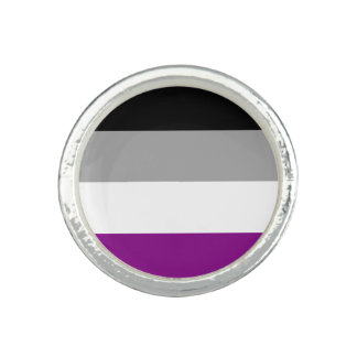 Asexuality pride flag Ring