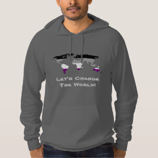Asexuality pride world map map Hoodie