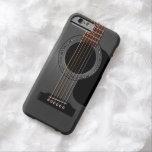 Ash Black Acoustic Guitar iPhone 6 Case