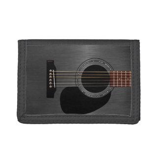 Ash Black Acoustic Guitar Tri-fold Wallet