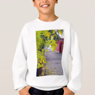 Ash branches with yellow leaves and pavement tiles tee shirt