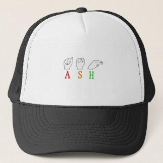 ASH FINGERSPELLED ASL NAME SIGN TRUCKER HAT