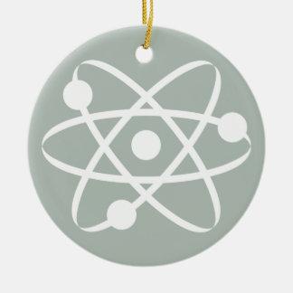 Ash Gray Atom Ceramic Ornament
