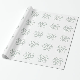 Ash Gray Atom Wrapping Paper