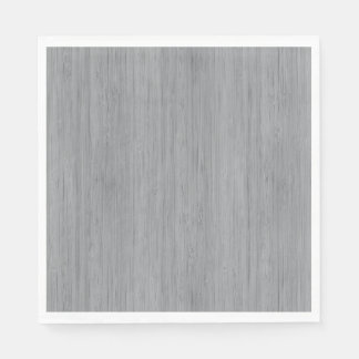 Ash Gray Bamboo Wood Grain Look Disposable Napkin