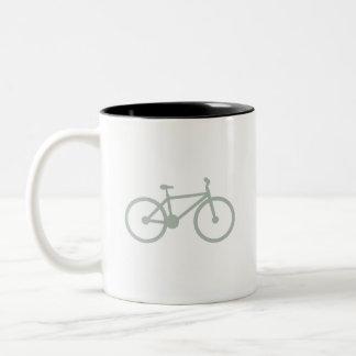 Ash Gray Bicycle Two-Tone Coffee Mug