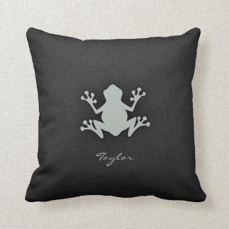 Ash Gray Frog Cushion