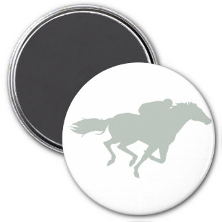 Ash Gray Horse Racing 7.5 Cm Round Magnet