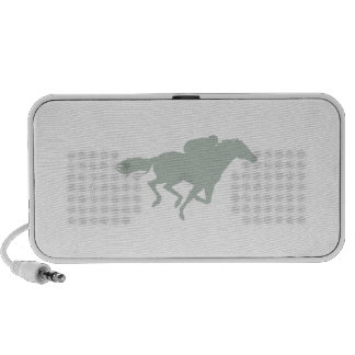 Ash Gray Horse Racing Portable Speakers