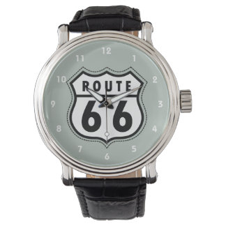 Ash Gray Route 66 Road sign Watch