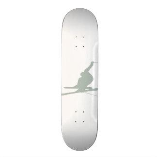 Ash Gray Snow Ski 19.7 Cm Skateboard Deck