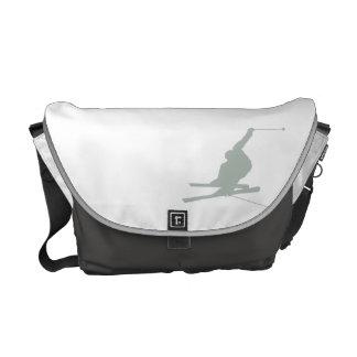 Ash Gray Snow Ski Courier Bag