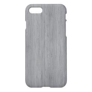 Ash Grey Bamboo Wood Grain Look iPhone 7 Case