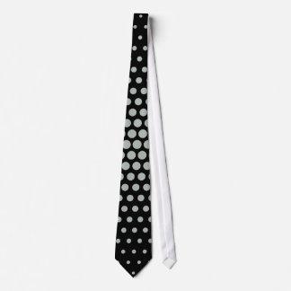 Ash grey Techno Dots Modern Black Tie