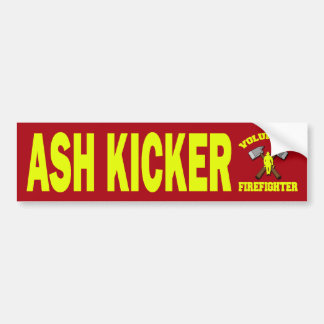 ASH KICKER VOLUNTEER FIREFIGHTER BUMPER STICKER