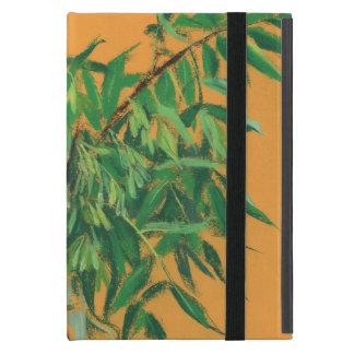 Ash-tree, green yellow summer greenery floral art iPad mini case