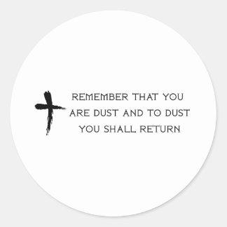 Ash Wednesday Classic Round Sticker