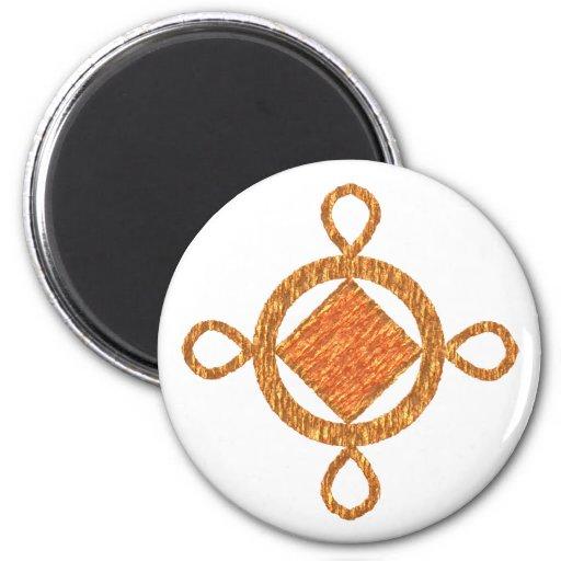 Ashanti symbol spirituality refrigerator magnets