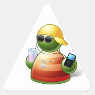 Asher-cool-buddy Triangle Sticker