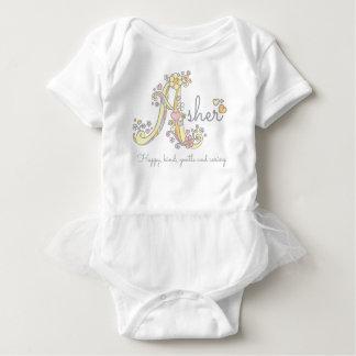 Asher girls name decorative custom meaning baby bodysuit