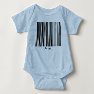Asher Personalized Functional Barcode Tee