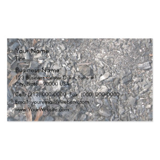 Ashes and Burned wood on the ground Business Card Templates