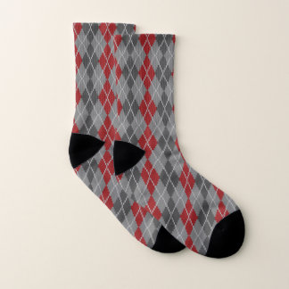 Ashes and Embers Argyle Socks