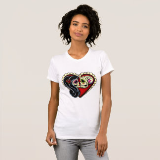 Ashes   Day Of The Dead Sugar Skull Lovers T-Shirt
