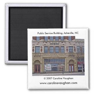 Asheville 1699, Public Service Building, Ashevi... Square Magnet