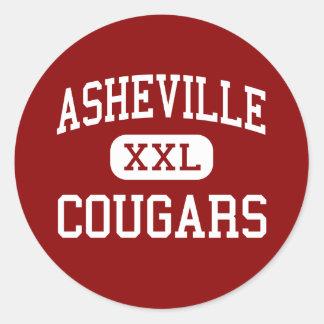 Asheville - Cougars - High - Asheville Round Sticker