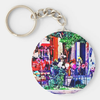 Asheville NC - Gift Shop Basic Round Button Key Ring