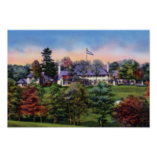 Asheville North Carolina Biltmore Forest Country C Poster