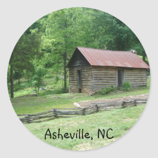 Asheville, North Carolina Classic Round Sticker