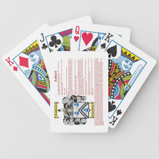 Ashford (meaning) bicycle playing cards