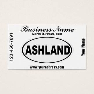 Ashland Oregon or Ohio Business Card